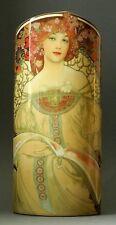 "MUSEUMSVASE - ""Alphonse Mucha - Reverie (1897)"" - prächtige Designer Vase - NEU!"
