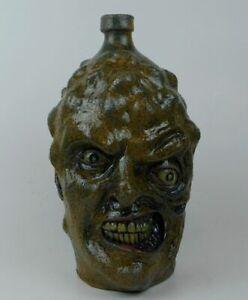 "Folk Art Pottery Face Jug ""The Toxic Avenger"" by Vonderhey"