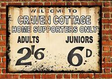 Craven Cottage Fulham Style Metal Sign Football  Vintage Sign