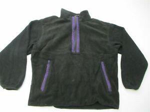 THE NORTH FACE Vintage Fleece Jacket Men's Size XL 1/2 Zip Pull Over Black