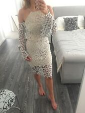 Missguided lace cold shoulder midi dress Size 8 10 Wedding Ibiza topshop Blogger