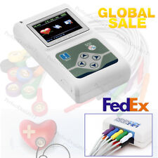 New ECG Holter 12 Channels Dynamic EKG Recorder 24Hours Analyzer+PC Software,USA