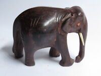 Hand Crafted wooden carved Elephant Statue Sculpture in Rosewood for Decoration6