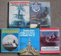 Lot 5 Books Military History BATTLESHIPS  AIRCRAFT CARRIERS SUBMARINES+ FREESHIP