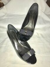 Women's Aigner Black Patent Leather Wedge Dress Shoe / Size 8.5 / NEW