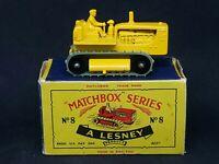 Matchbox Moko Lesney No. 8-C3 Caterpillar Tractor (Type C Box)