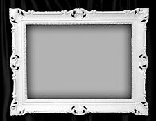 Cadre d'image grand 90x70 faire encadrement baroque rectangulaire Blanc photo