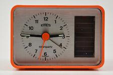 EMES SOLARQUARTZ alter Wecker orange Retro Uhr 82-8101-31 NEU NOS; K71 77