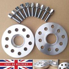 2 Pcs Alloy Wheel Spacers Kit 5 x 100/112 57.1 20mm+OE Bolt for Volkswagen Audi