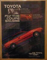 Vintage 1980's TOYOTA CELICA Automobile Original 1986 Print Ad Advertisement