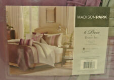 New Madison Park 6 Piece Duvet Cover Set in Purple Mp12-129 - Full / Queen