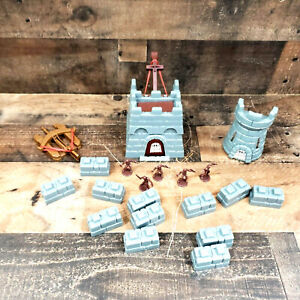 1983 Crossbows and Catapults Lot Gray Castle Solders Parts and Extras
