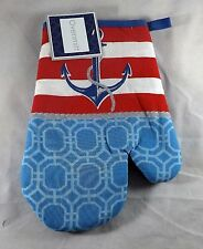 Mainstream Kitchen Oven Mitt - New - Beach Themed Anchor & Rope w/ Sparkles