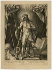 Antique Master Print-RELIGION-CHRIST-MAN OF SORROWS-De Passe-De Passe -1615