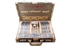Royal línea 72pc Acero Inoxidable/oro cubiertos en caja de presentación hermoso
