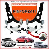 Kit Bracci Sospensione Rinforzati Alfa Romeo 147 1.9 JTD CV100 Anteriori 8 Pezzi