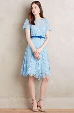 NWOT Anthropologie Kate Sylvester Devota Castine Dress Size 12 Petite Blue Lace