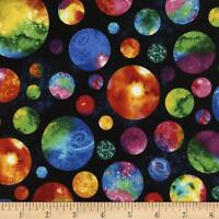 Timeless Treasures Out Of This World Multi Planet 100% cotton fabric by the yard