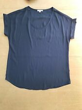 Pleione Nude Blouse top navy Sz M