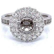 Engagement Ring Semi-Mount Setting (For 1 Ct Round) W/ 1.07 Ct Diamond 14kt gold