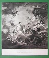 NUDE Artist Boucher as Vulcan Forge Venus Thetis Graces - Victorian Era Print