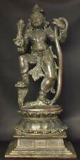 Krishna dancing on Kaliya Hindu God antique 12 inches 30 cm