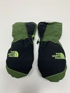 The North Face Size 3T Ski Toddler Kids Gloves Mittens Green Black Hyvent Boys