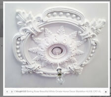 Ceiling Rose  Traditional Victorian Pendant 85cm Light Decoration CR7-XL