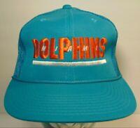 New Vtg 1980s MIAMI DOLPHINS NFL Football SPORTS SPECIALTIES Snapback Hat Cap