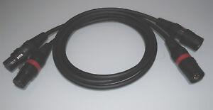 "Mogami ""No Compromise"" / symm. HighEnd XLR-Kabel / Hicon Connectors / 1 Paar"