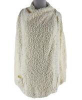 Bobeau Women's Ivory Cream Draped Button Cardigan Sweater Size XL NEW