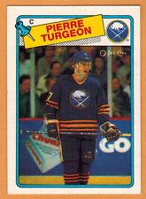 1988-89 , OPC , O-PEE-CHEE , PIERRE TURGEON , CARD #194 , ROOKIE