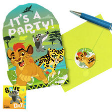 LION GUARD INVITATIONS (8) ~ Birthday Party Supplies Invites Stationery Notes