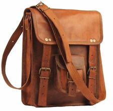 Men's messenge Leather satchel Vintage Leather Bag Shoulder Bag for i Pad