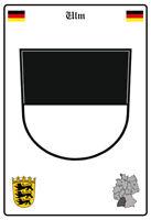 Ulm Deutschland Wappen Blechschild Schild gewölbt Metal Tin Sign 20 x 30 cm