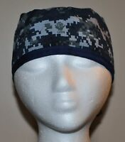 Digital Blue Camo (NWU/Navy Camo) Men's Scrub Cap/Hat - One size fits most