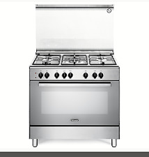 De Longhi Cucina a gas 5 Fuochi Forno Elettrico Ventilato 90x60 cm Inox DEMX 96