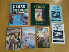 7 Home School 8th grade Christian Liberty Press books, lesson plan / Literature
