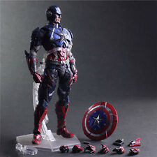 Play Arts Kai Marvel Universe Captain America Action Figures Toy Doll Model 26CM