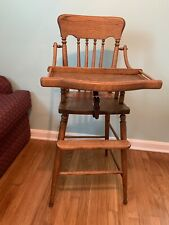 wooden vintage baby high chair,antique high chair,victorian,jenny lind,strong
