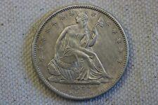 1857 50C Seated Liberty Half Dollar AU+++- MS
