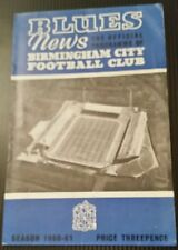 Birmingham City v Kjobenhavns Boldklub Fairs Cup Programme 07/12/60