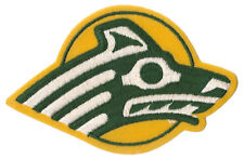 "ALASKA ANCHORAGE SEAWOLVES NCAA COLLEGE VINTAGE 4.5"" DIECUT LOGO PATCH"