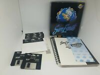 SIM EARTH - THE LIVING PLANET - Vintage Maxis PC RPG Big Box Amiga Complete