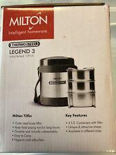 Milton ThermoSteel Legend 3 Tiffin Box, 690ml PRISTINE -USA Seller-Free Shipping