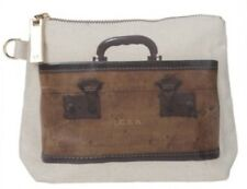 NWT Vintage Train Case Look Clutch Cosmetic Bag