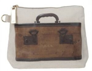 NWT Vintage Train Case Look Thursday Friday Clutch Cosmetic Bag