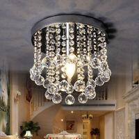 Modern Chandelier Crystal Glass LED Ceiling Light E12 HolderPendant Hanging Lamp