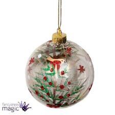 Décorations de sapin de Noël boules transparents Gisela Graham