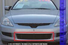 GTG 2003 - 2005 Honda Accord 2dr 1PC Gloss Black Overlay Bumper Billet Grille